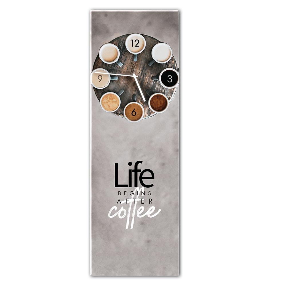 Horloge en verre COFFEE