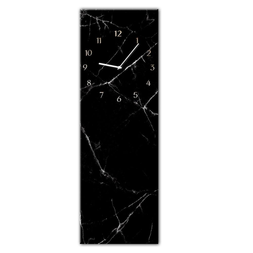 Horloge en verre BLACK MARBL