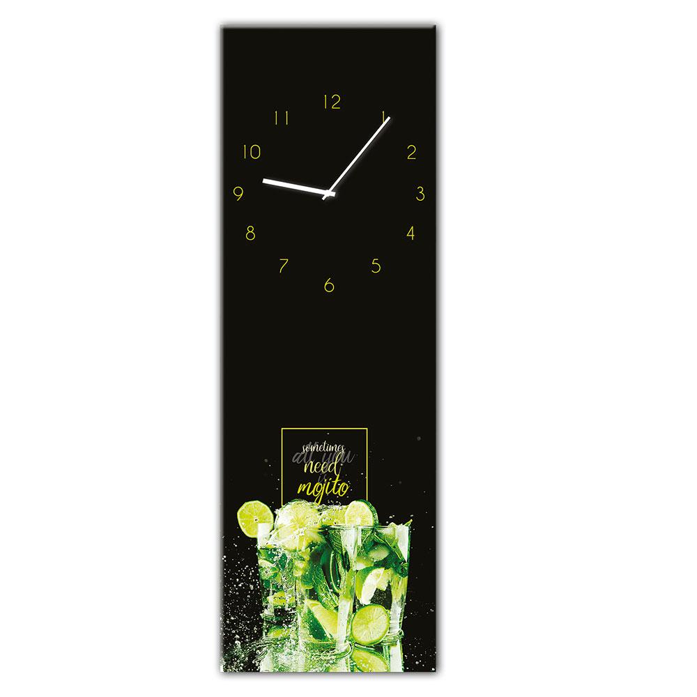 Horloge en verre MOJITO