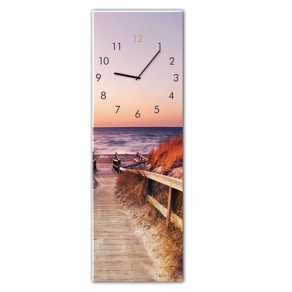 Horloge en verre SUNSET