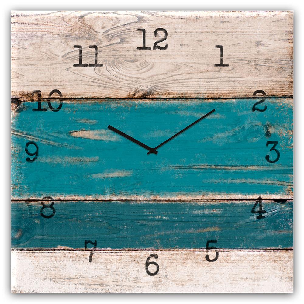 Horloge en verre BLUE WOOD