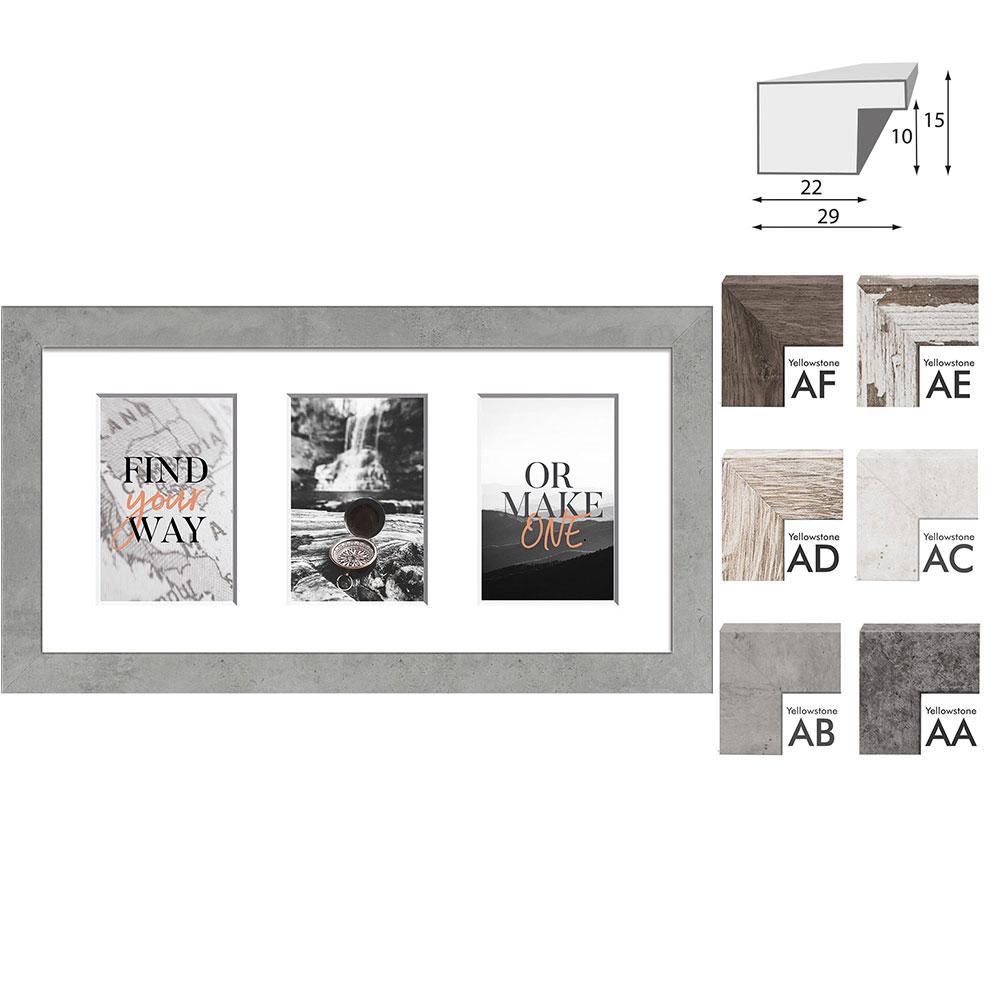 Cadre de galerie YELLOWSTONE pour 3 photos