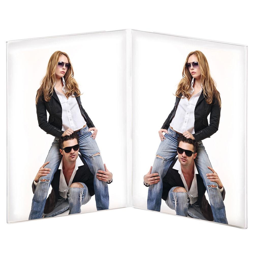 Cadre double en acrylique en format portrait