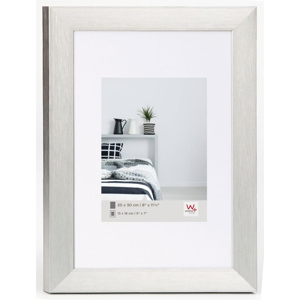 walther cadre en aluminium aluline 50x70 cm 40x50 cm argentin verre normal. Black Bedroom Furniture Sets. Home Design Ideas