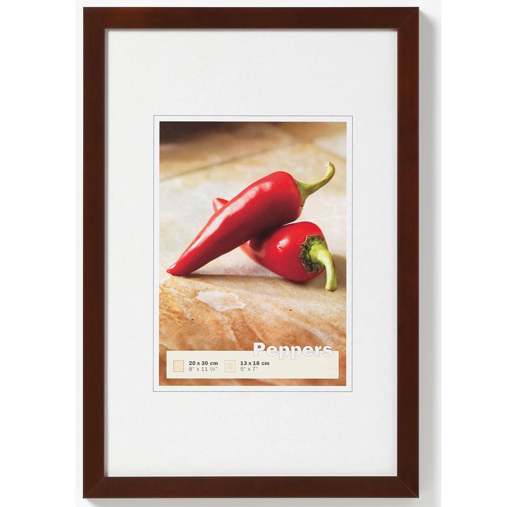 walther cadre en bois pepper 13x18 cm noyer verre normal. Black Bedroom Furniture Sets. Home Design Ideas