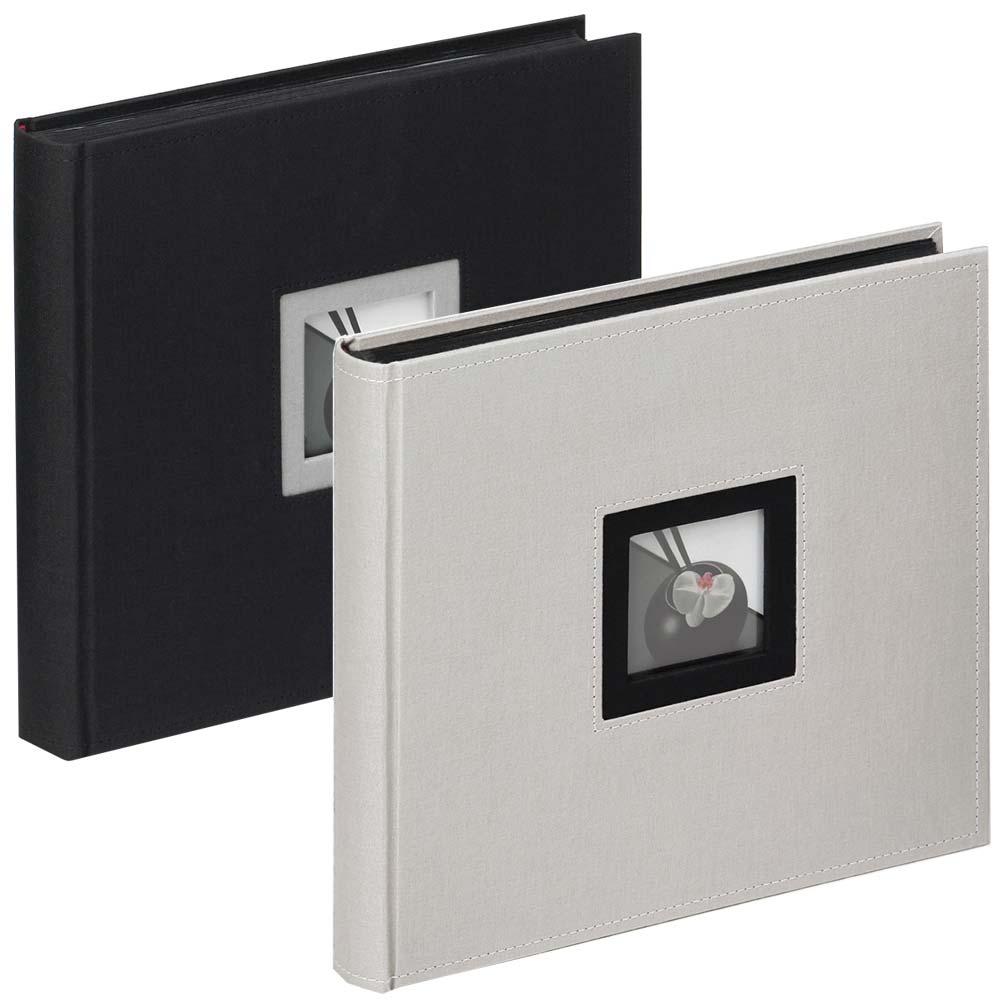"""Album livre """"Black & White"""" avec pages neutres, 26x25 cm"""