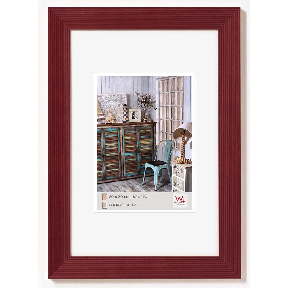 walther cadre en bois grado 15x20 cm rouge verre normal. Black Bedroom Furniture Sets. Home Design Ideas