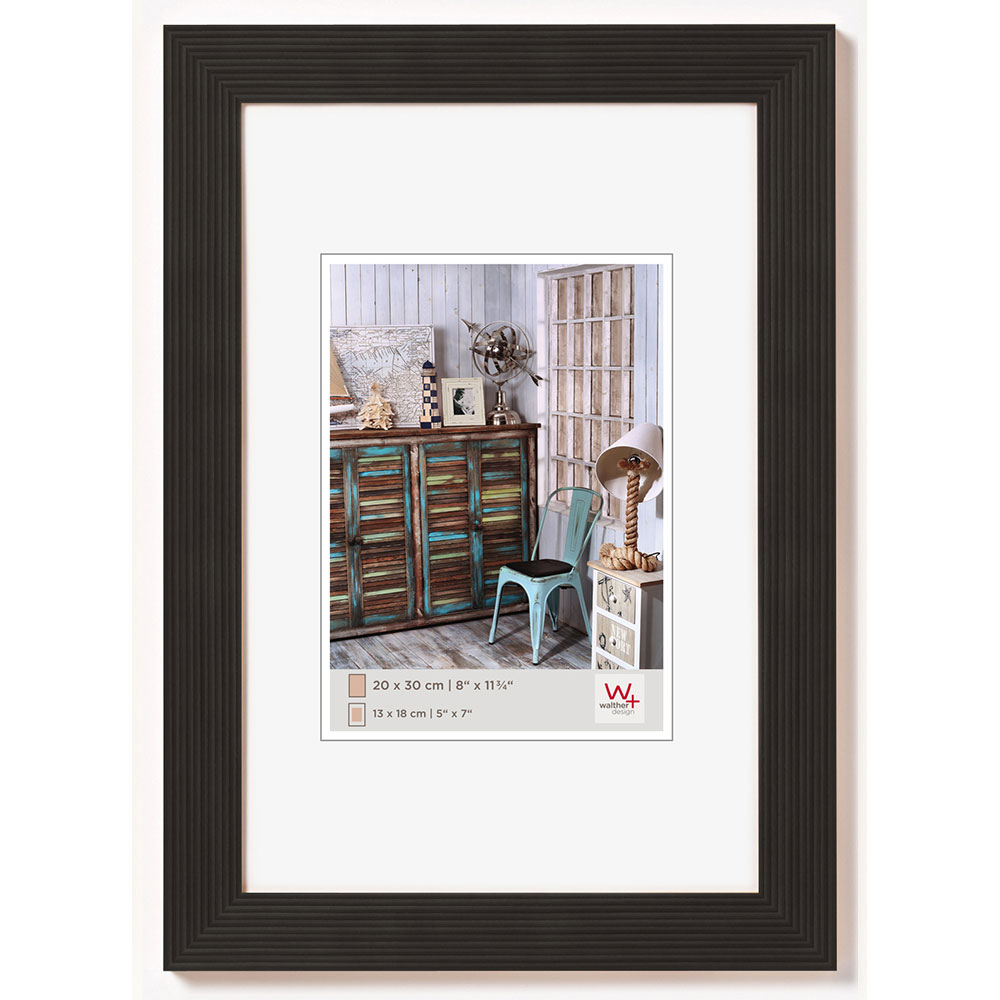 Cadre en bois Grado 10x15 cm | noir | verre normal