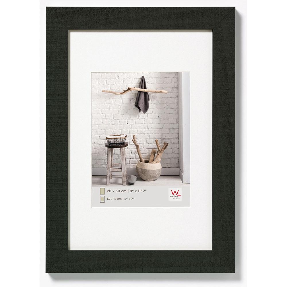 Cadre en bois Home 10x15 cm | noir | verre normal