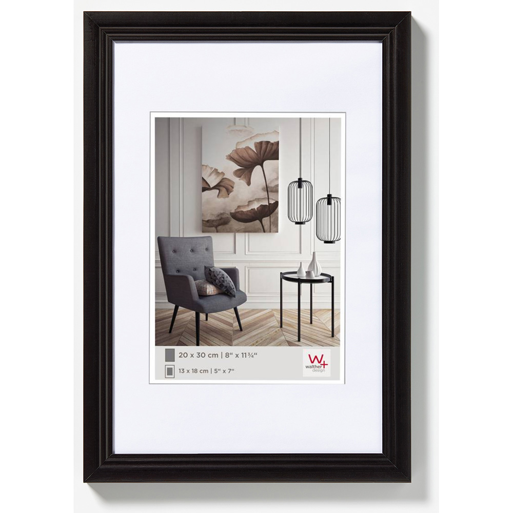 Cadre en bois Living 10x15 cm | noir | verre normal
