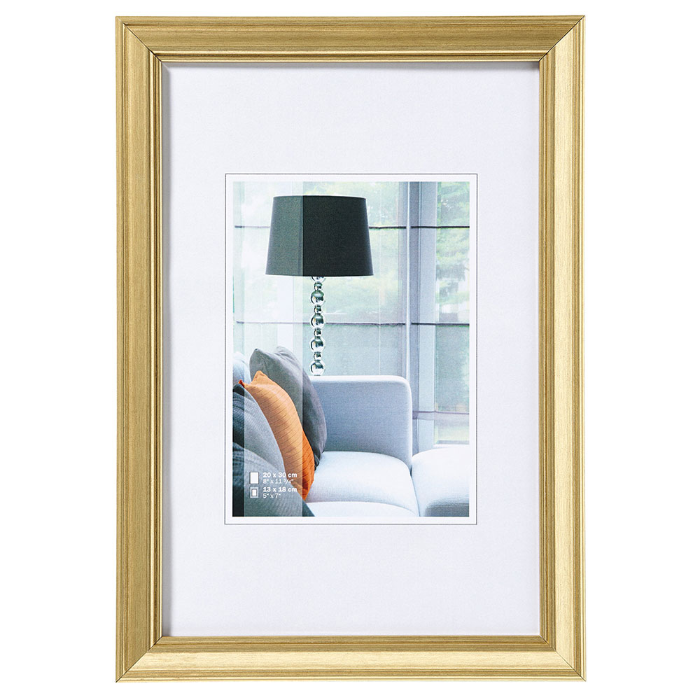 Cadre en plastique Lounge 10x15 cm | or | verre normal