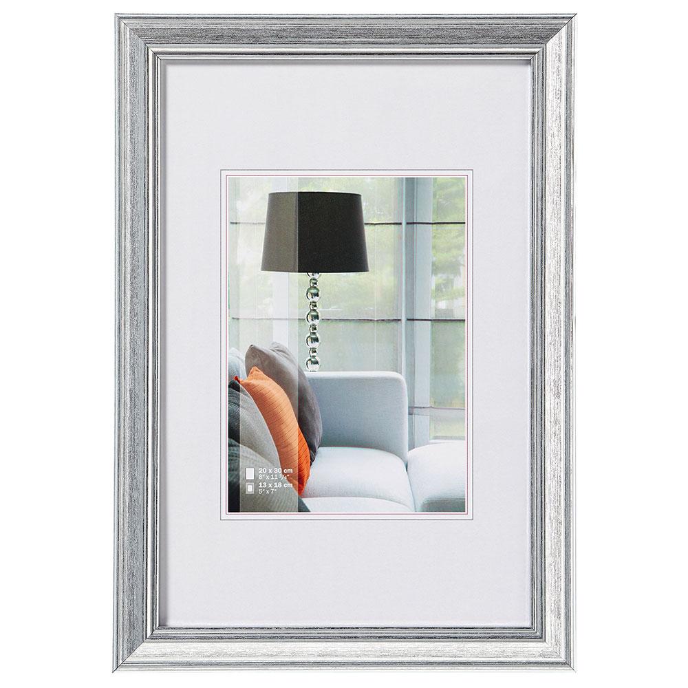 Cadre en plastique Lounge 20x30 cm | argent | verre standard