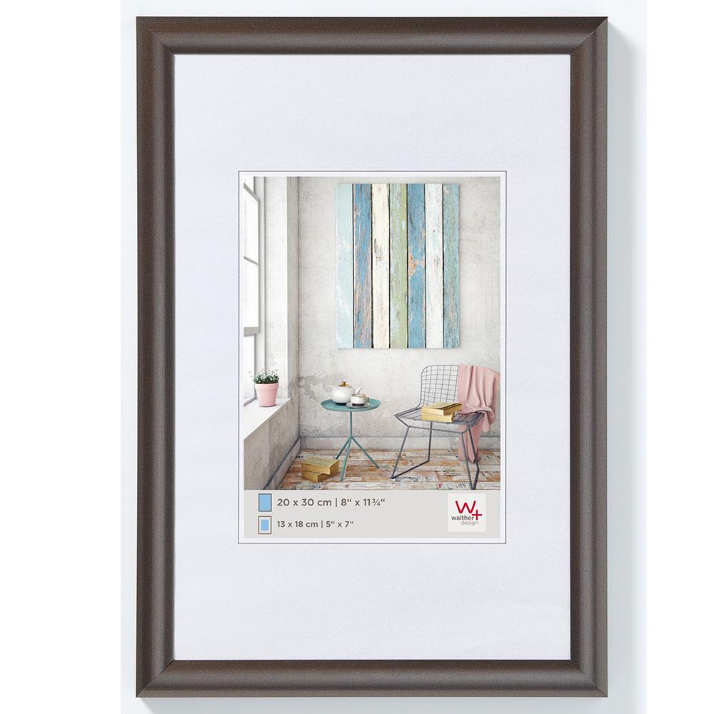 walther cadre en plastique trendstyle 18x24 cm acier. Black Bedroom Furniture Sets. Home Design Ideas