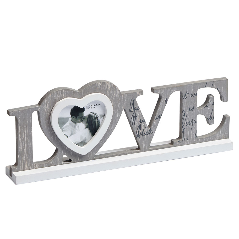 Cadre en bois Love