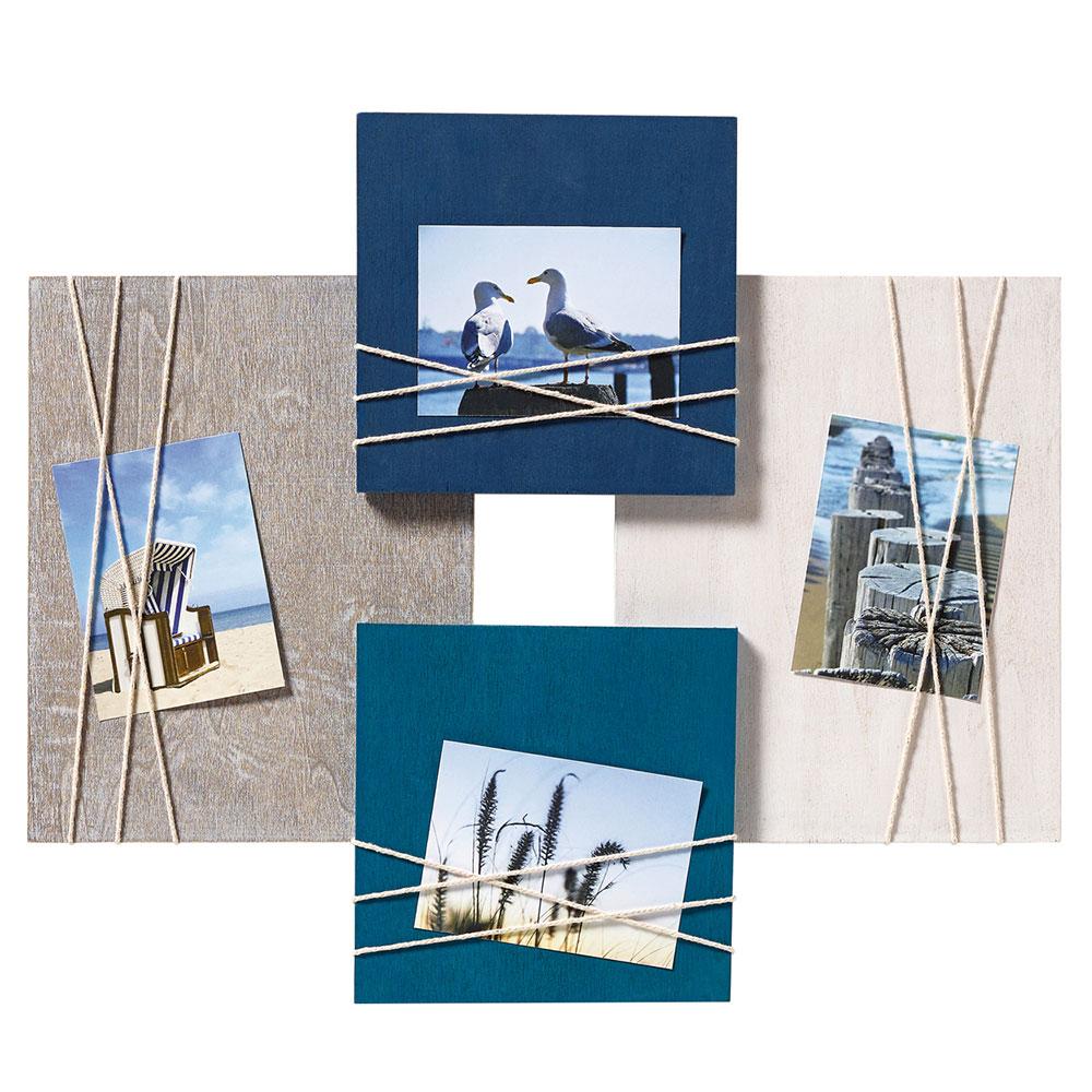 """walther cadre galerie """"la casa"""" pour 4 photos 8x11 cm  bleu"""