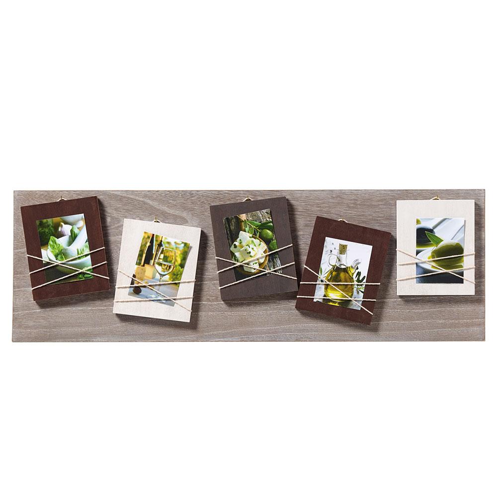 walther cadre galerie la casa pour 5 photos 8x11 cm brun. Black Bedroom Furniture Sets. Home Design Ideas