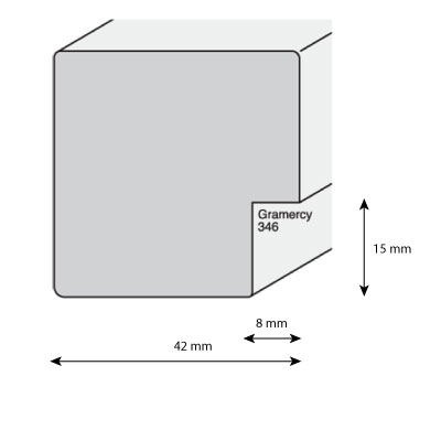 aicham larson juhl cadre en bois gramercy 4 2. Black Bedroom Furniture Sets. Home Design Ideas
