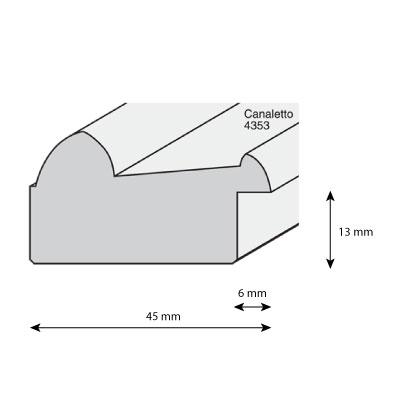 aicham larson juhl cadre en bois canaletto 4 5. Black Bedroom Furniture Sets. Home Design Ideas