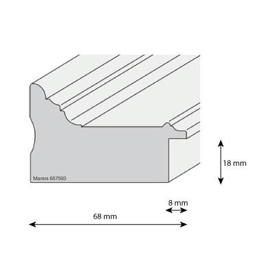 aicham larson juhl cadre baroque mareis ornement 6 8. Black Bedroom Furniture Sets. Home Design Ideas