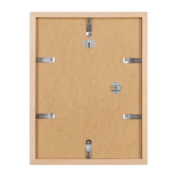 aicham larson juhl iframe cadre amovible en bois stuttgart 60x80 cm noir sur naturel verre. Black Bedroom Furniture Sets. Home Design Ideas