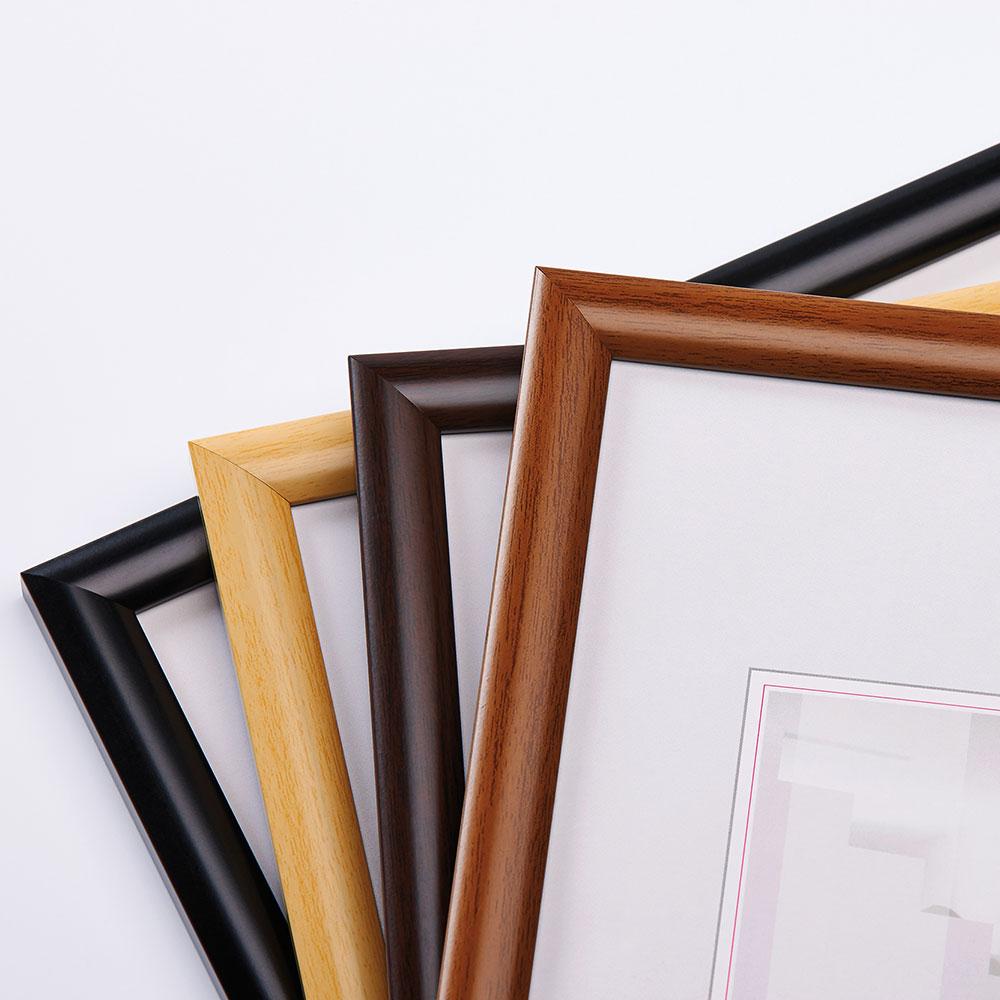 walther cadre en plastique talk 20x30 cm noir verre normal. Black Bedroom Furniture Sets. Home Design Ideas