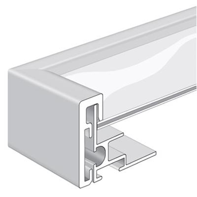 Nielsen en aluminium forme cadre Alpha aimant Eloxal noir mat 56x71 cm
